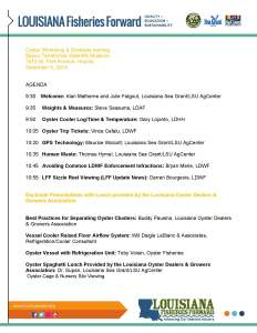 Oyster Agenda (1)